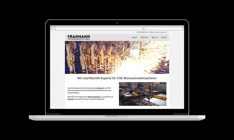 mockup_frahmannsteuerungstechnik Webseite für das Ingenieurbüro