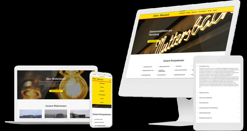 mockup_Webseite für Elektroinstallationsbetrieb