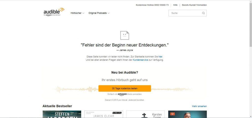 audible-404seite-error-seitenichtgefunden-404fehler-404fehlerseite