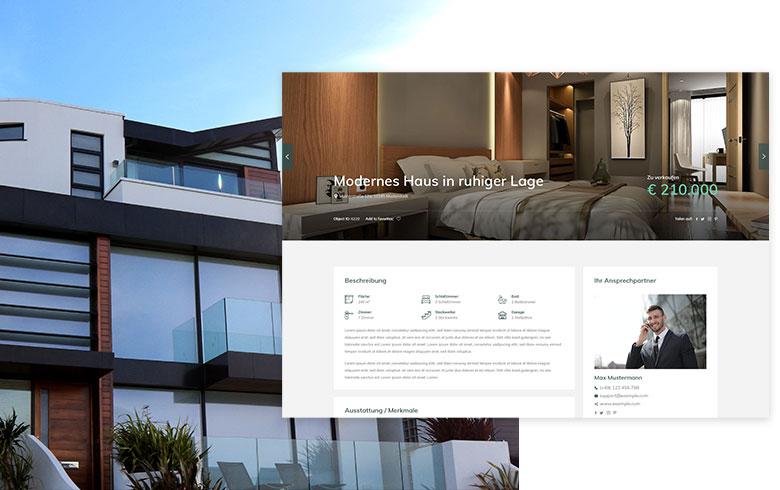 Immobilien Webseite Beispiel