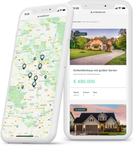 Immobilien Webseite Beispiel auf dem Smartphone